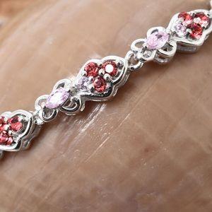 Jewelry - Simulated Pink Diamond Bolo Bracelet